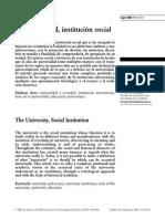 La Universidad, Institución Social