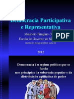 A Democracia Participativa e Representativa