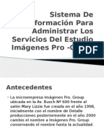 Sistema de Información Para Administrar Los Servicios