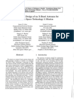 Evolutionary Design of an X-Band Antenna