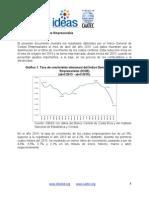 Reporte Mensual (Abril 2015) - Índice General de Costos Empresariales