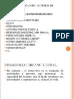 Desarrollo Urbano y Rural Diapositivas Eq 5