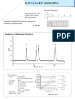 GL Analysis of Vitamine E in Food by HPLC