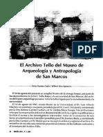 El Archivo Tello del Museo de Arqueología y Antropología de San Marcos