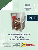 Catalogo de transformadores secos de Zetrak