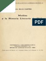 Raúl Silva Castro - Medina y La Historia Literaria de Chile