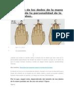 El Tamaño de Los Dedos de La Mano Dice Más de Tu Personalidad de Lo Que Pensabas
