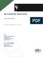 Be a Smarter Negotiator