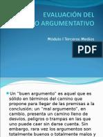 Evaluación Del Discurso Argumentativo