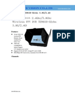 2.4Ghz/5.8Ghz Wireless FPV DVR TE981H-32chs 5.8G/2.4G Specification-www.ttbvs.com