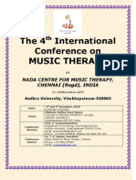 4th International conference on Music Therapy