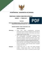"PERDA Kabupaten Ketapang No 9 Tahun 2011 ""Tentang Rencana Pembangunan Jangka Menengah Daerah Kabupaten Ketapang Tahun 2011 - 2015"""