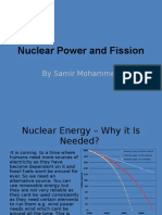 Nuclear Power and Fission