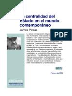 La Centralidad Del Estado en El Mundo Contempor Neo-James Petras