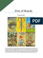 Pyreaus Tarot the Five of Wands