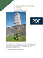 157 Años de Creación Política Del Distrito de Acora