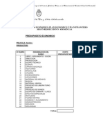 Presupuesto Desglosado + Plan Economico + Plan Financiero