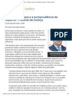 ConJur - O Afeto Em Xeque e a Jurisprudência Do Superior Tribunal de Justiça