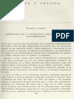 Perspectivas de La Literatura Hispanoamericana - La Novela