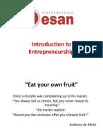 Entrepreneurship 1 Introduction