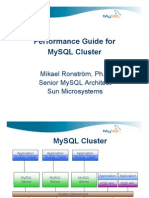 Performance Guide for MySQL Cluster Presentation