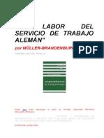 BRANDENBURG Müller - La Labor Del Servicio de Trabajo Alemán