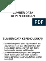 3 Sumber Data Kependudukan