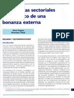Las Políticas Sectoriales en El Marco de Una Bonanza Externa - Alicia Puyana y Rosemary Thorp