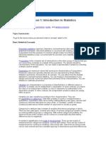 Statistics I - Introduction to ANOVA, Regression, And Logistic Regression