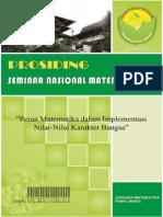 Cover Prosiding Seminar Nasional Matematika VI UNNES