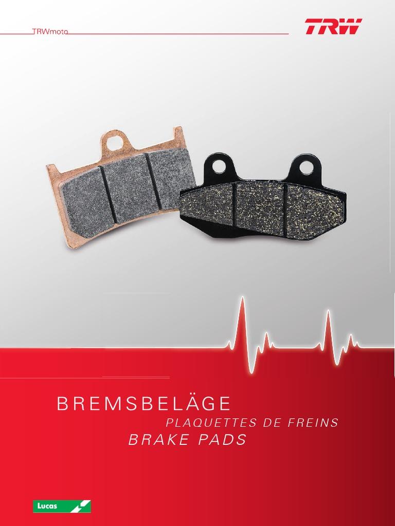 Bremsbelag TRW organischer Allround-Bremsbelag YZF-R1 RN04 00-01 vorne
