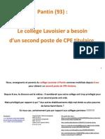 Dossier Presse Lavoisier Mobilisé