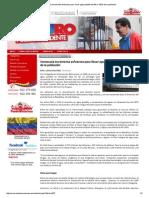 Venezuela Incrementa Esfuerzos Para Llevar Agua Potable Del 96 Al 100% de La Población