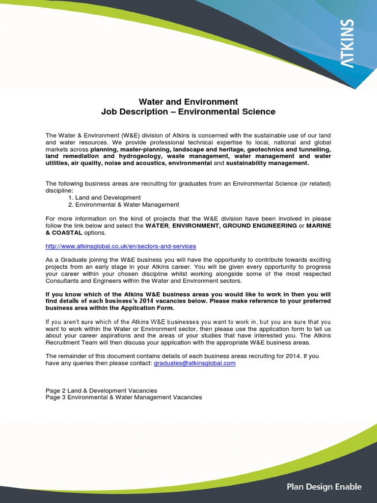 We Environmental 2014 Postgraduate Education Engineering