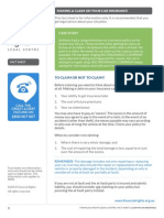 FRLC Factsheet Claim on Car Insurance