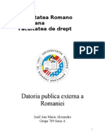 Datoria Publica a Romaniei