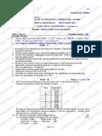 OPERATIONS MANAGEMENT SEMESTER EXAMINATION QUESTION PAPER DEC-2012