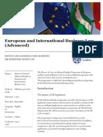Universiteit Leiden Master European and International Business Law en 20150517