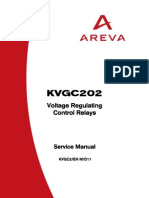 KVGC2 Voltage Regulating Control Relays Service Manual
