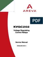 KVGC2 Voltage Regulating Control Relays Service Manual