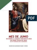 Mes de Junio en honor al Sagrado Corazón de Jesús Con Santa Teresa de Jesús