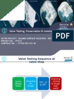 3. Valve Testing Preservation Installation Sequence_UZ750.pptx