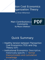 Transaction Cost Economics and Organization Theory