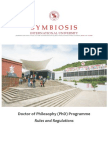 PhD Rules and Regulations-Symbiosis