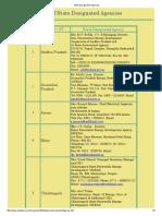 State Designated Agencies