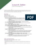 resume - char zablan 2015