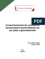 Comportamentul de Achiziţie Al Întreprinderii SanProdMedm de Pe Piaţa Organizaţională