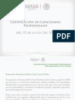 Certificación de capacidades Sedesol
