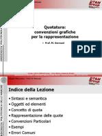 Quotatura 1 - Convenzioni Grafiche Per La Rappresentazione