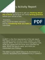 Writing Lab Report